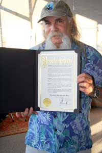 "San Francisco Mayor Gavin Newson proclaimed that June 29th, 2006, is ""Michael Mendelson Day""..."